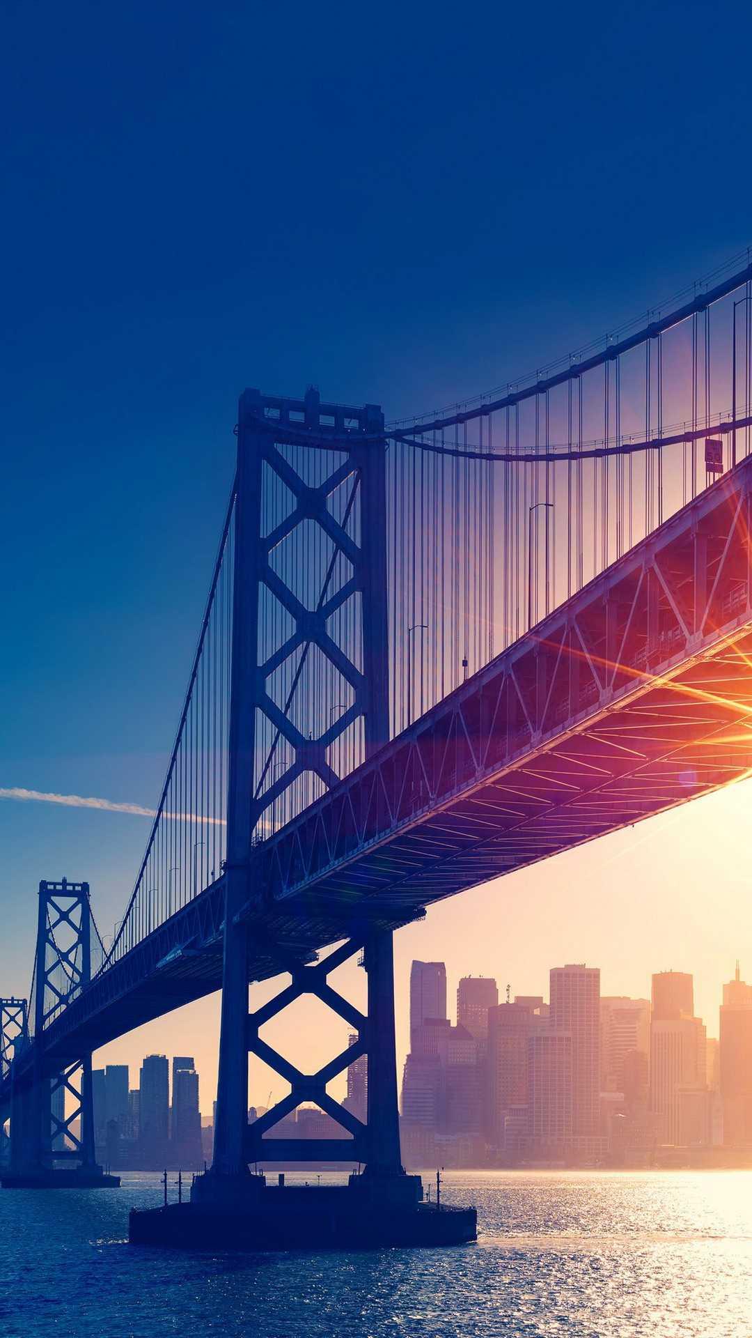 Bridge City Sunset iPhone Wallpaper