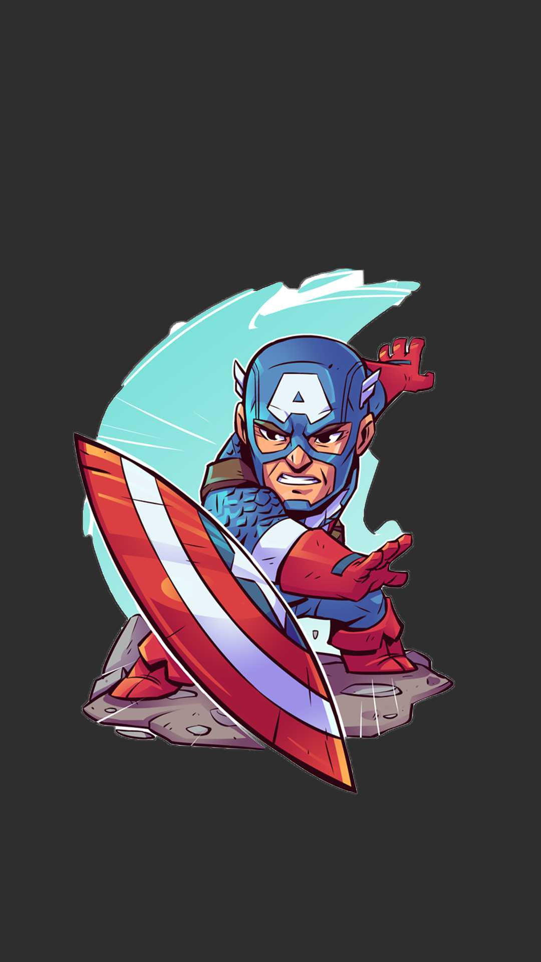 Captain America Animated Art iPhone Wallpaper