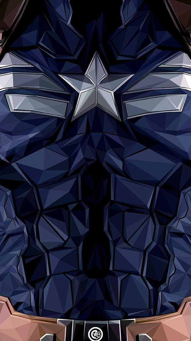 Captain America Body Armour iPhone Wallpaper
