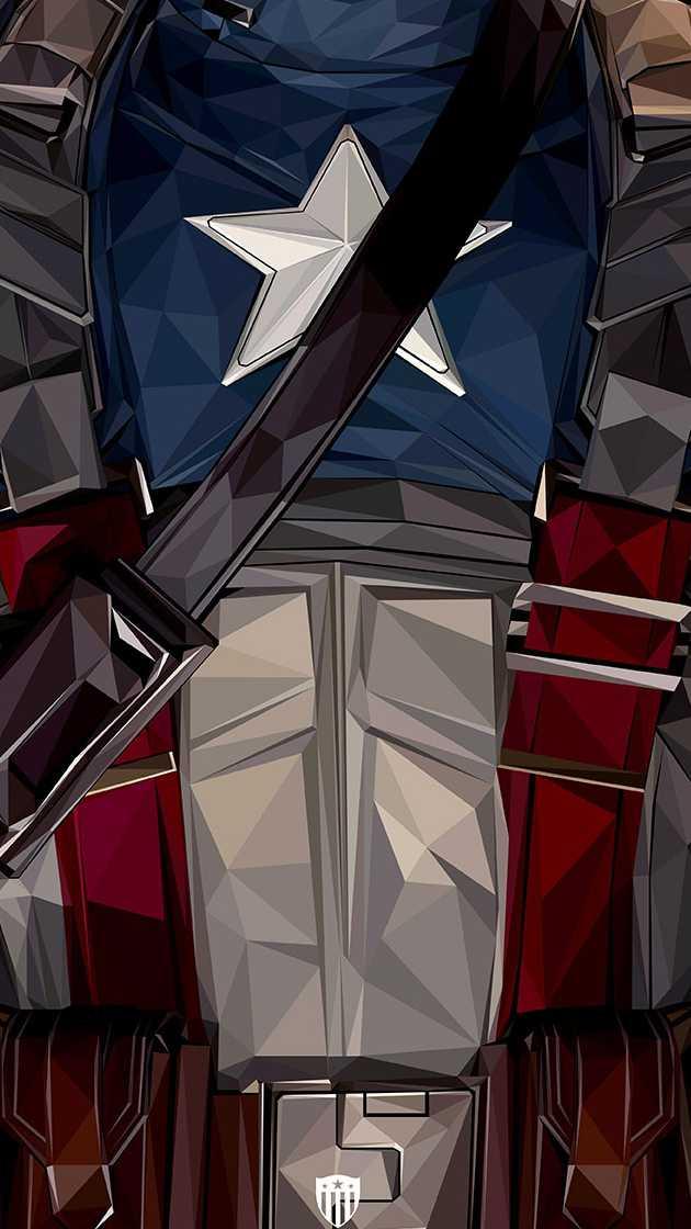 Captain America Classic Body Waist iPhone Wallpaper