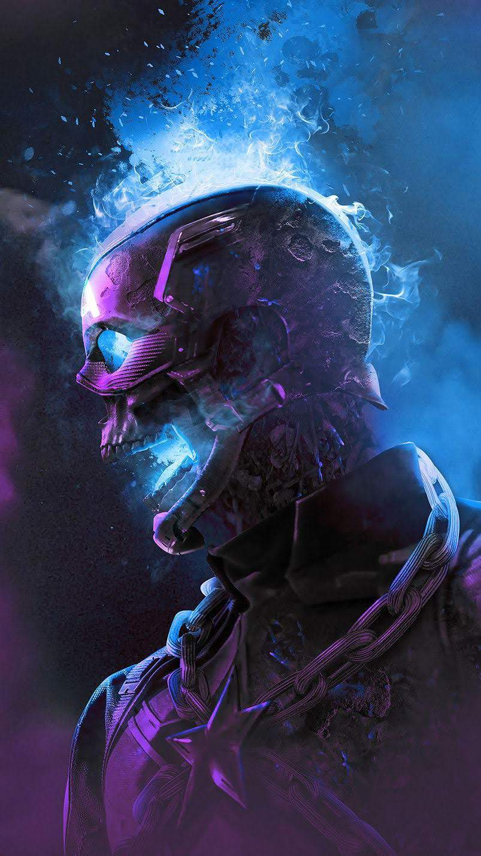 Captain America Skull iPhone Wallpaper