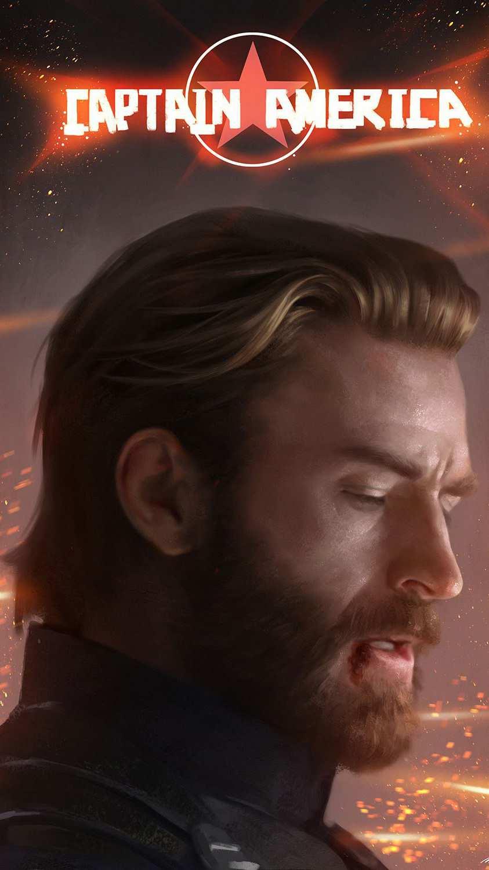 Captain america Steve Rogers iPhone Wallpaper