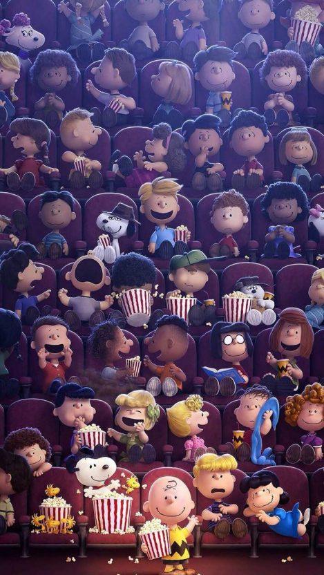Cartoons watching Movie iPhone Wallpaper