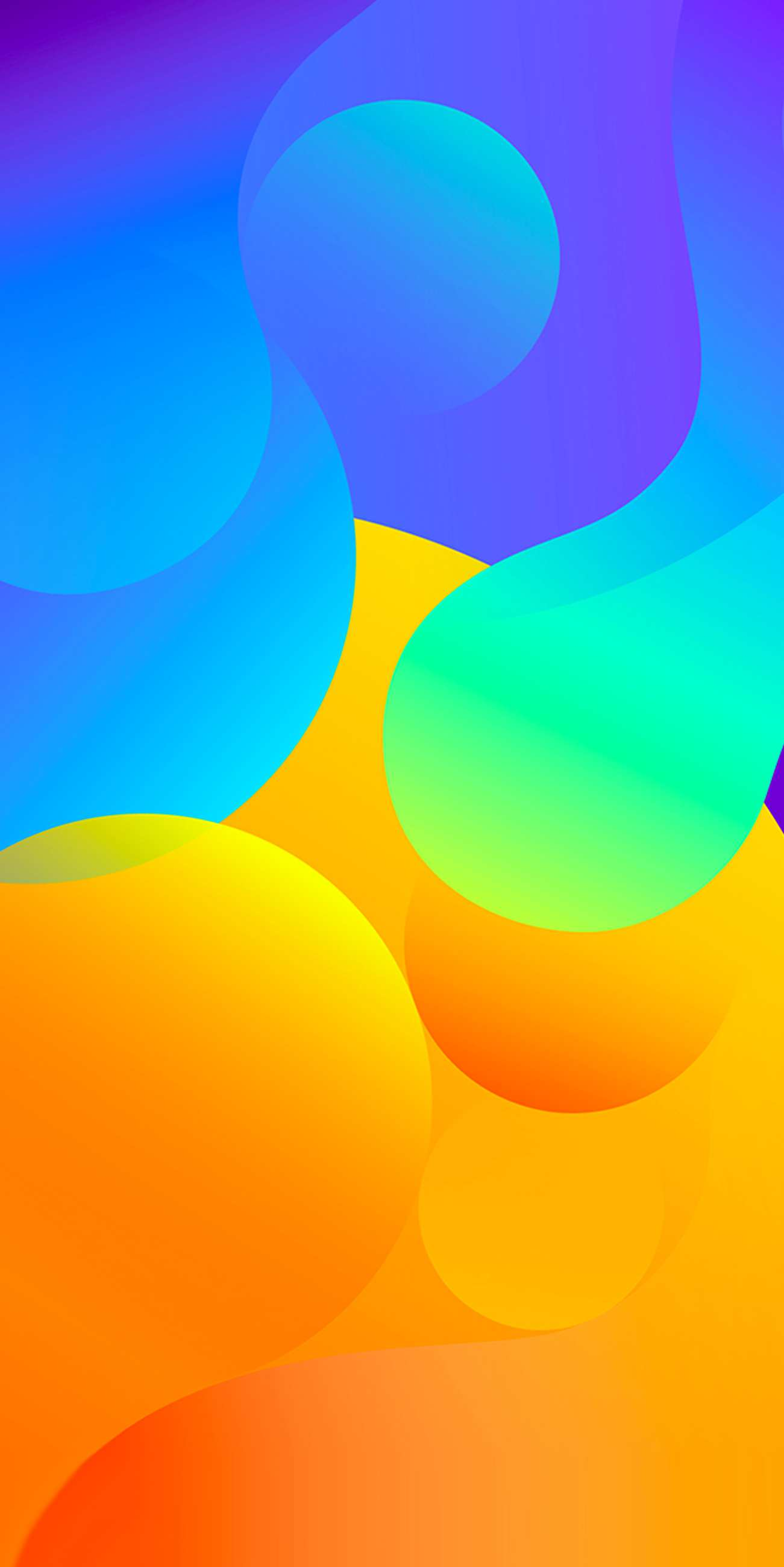 Colour Circles Abstract iPhone Wallpaper