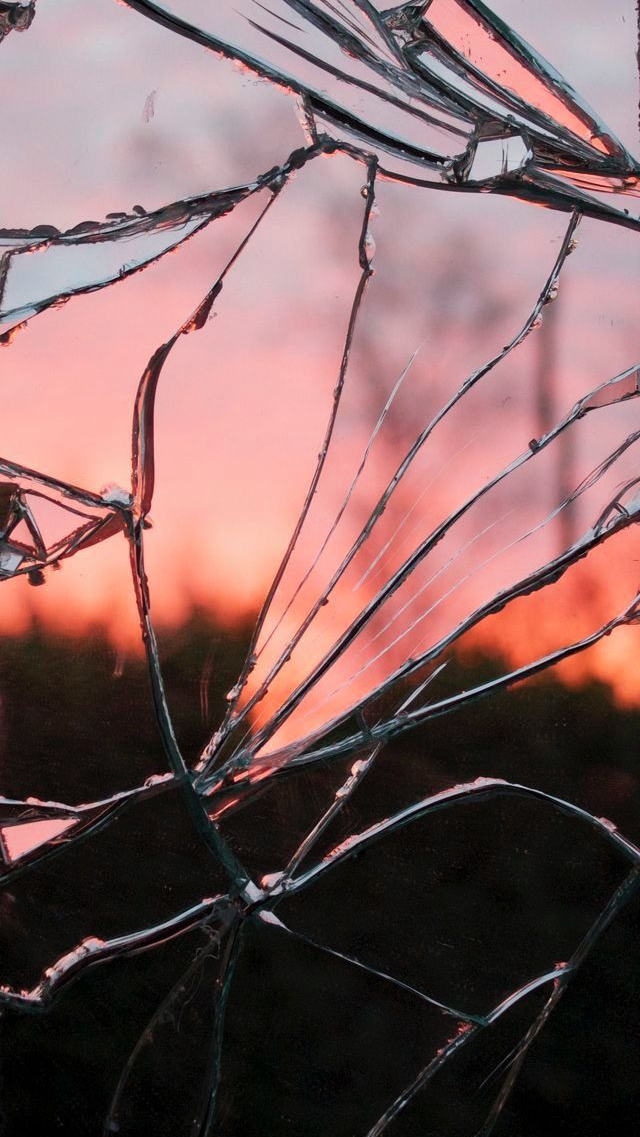 Cracked Glass iPhone Wallpaper