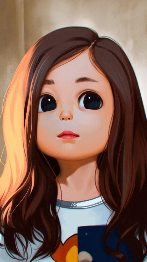 Cute Little Girl iPhone Wallpaper