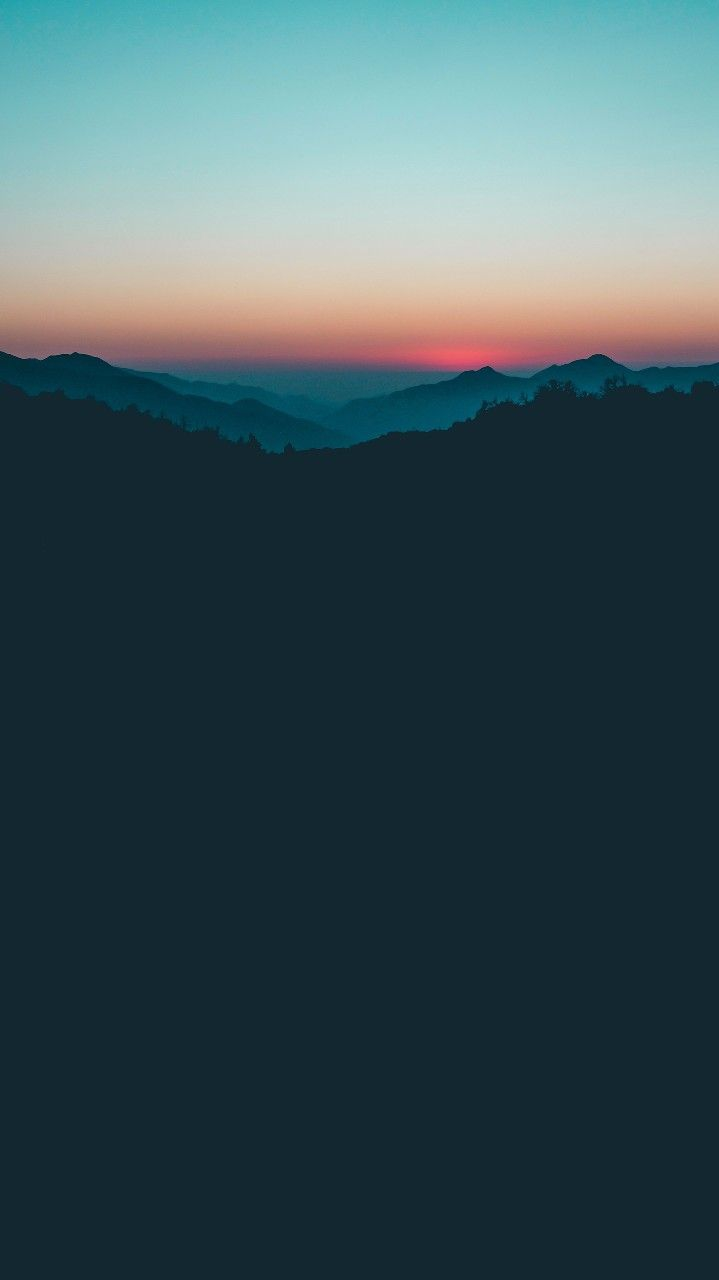 Dark Forest Nature Sunrise iPhone Wallpaper