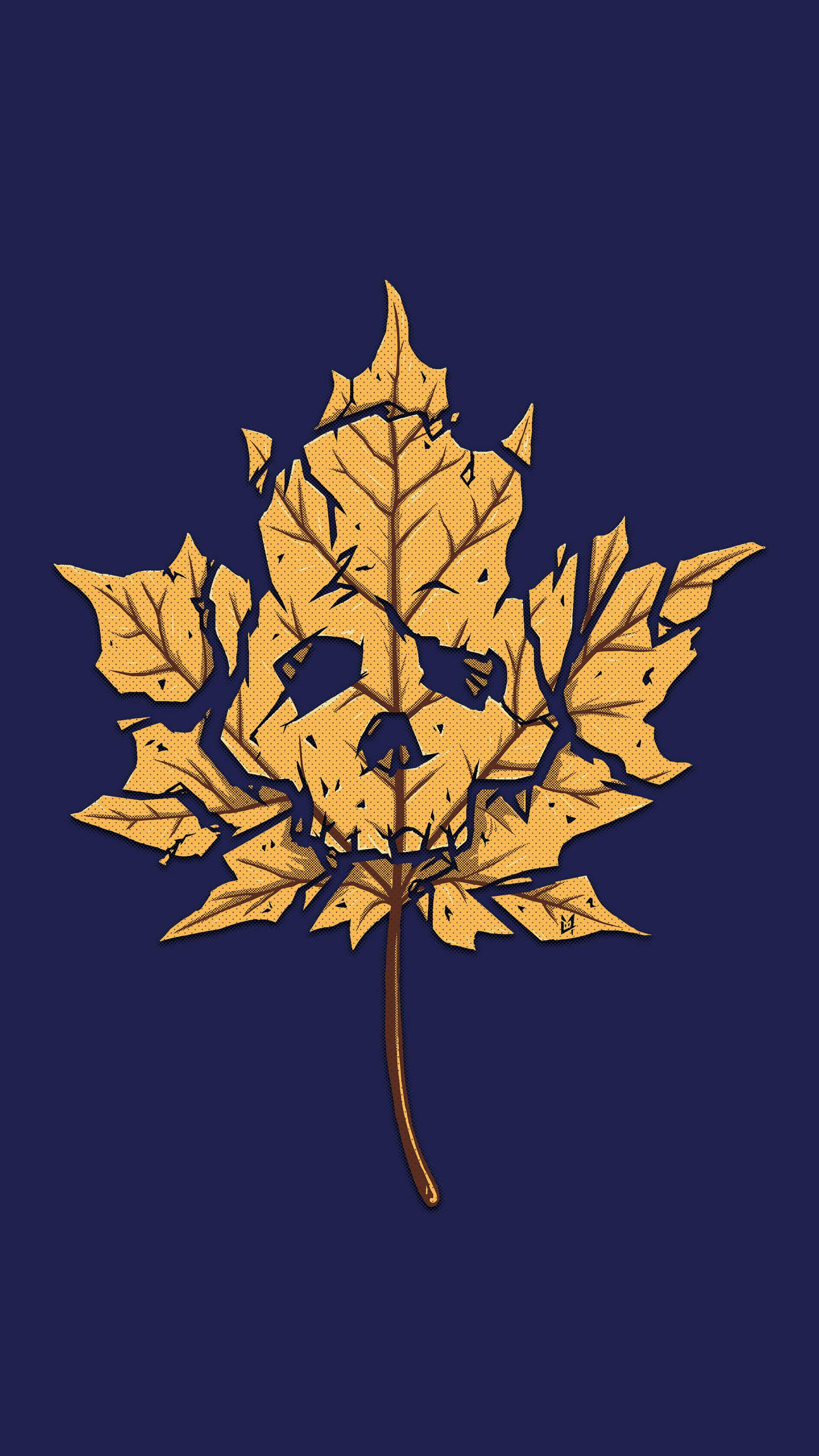 Dead Leaf iPhone Wallpaper