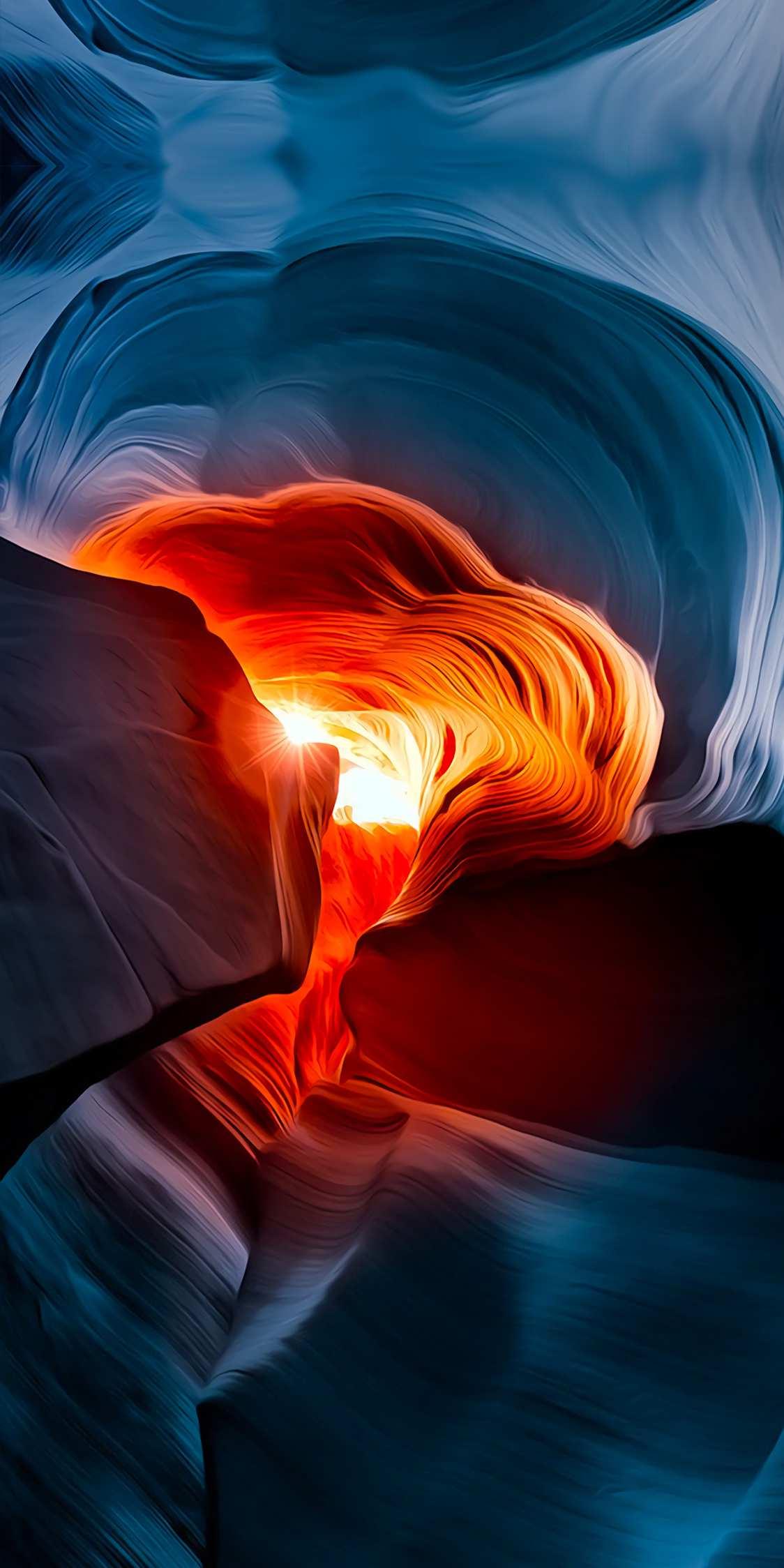 Deep Canyon Rocks iPhone Wallpaper