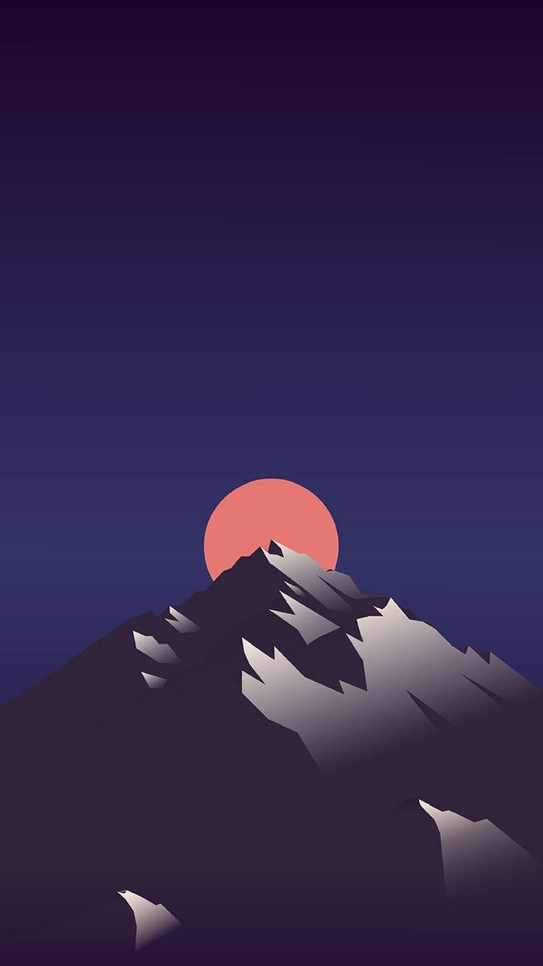 Evolving Sun Minimal iPhone Wallpaper