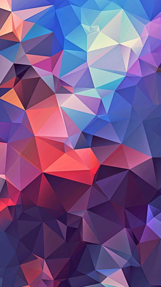 Geometry Colorful Polygon Art iPhone Wallpaper
