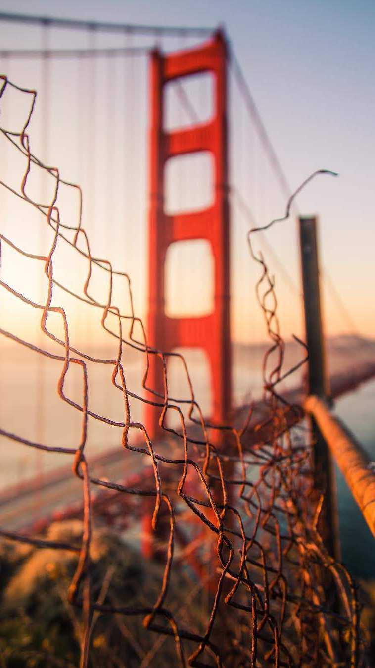 Golden Gate Bridge Blur iPhone Wallpaper