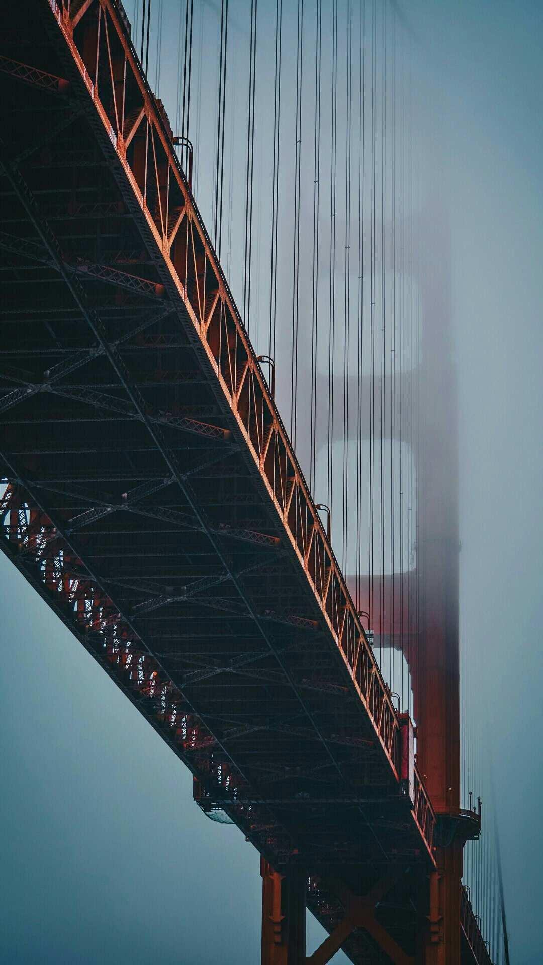 Golden Gate Bridge Fog iPhone Wallpaper
