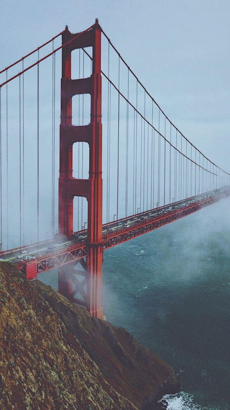 Golden Gate Bridge Morning View Mist iPhone Wallpaper
