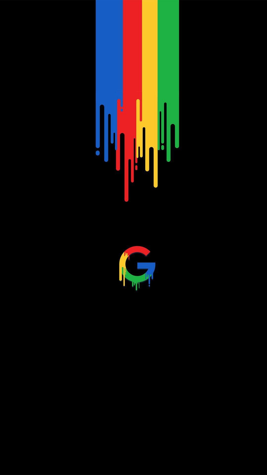 Google Dark iPhone Wallpaper