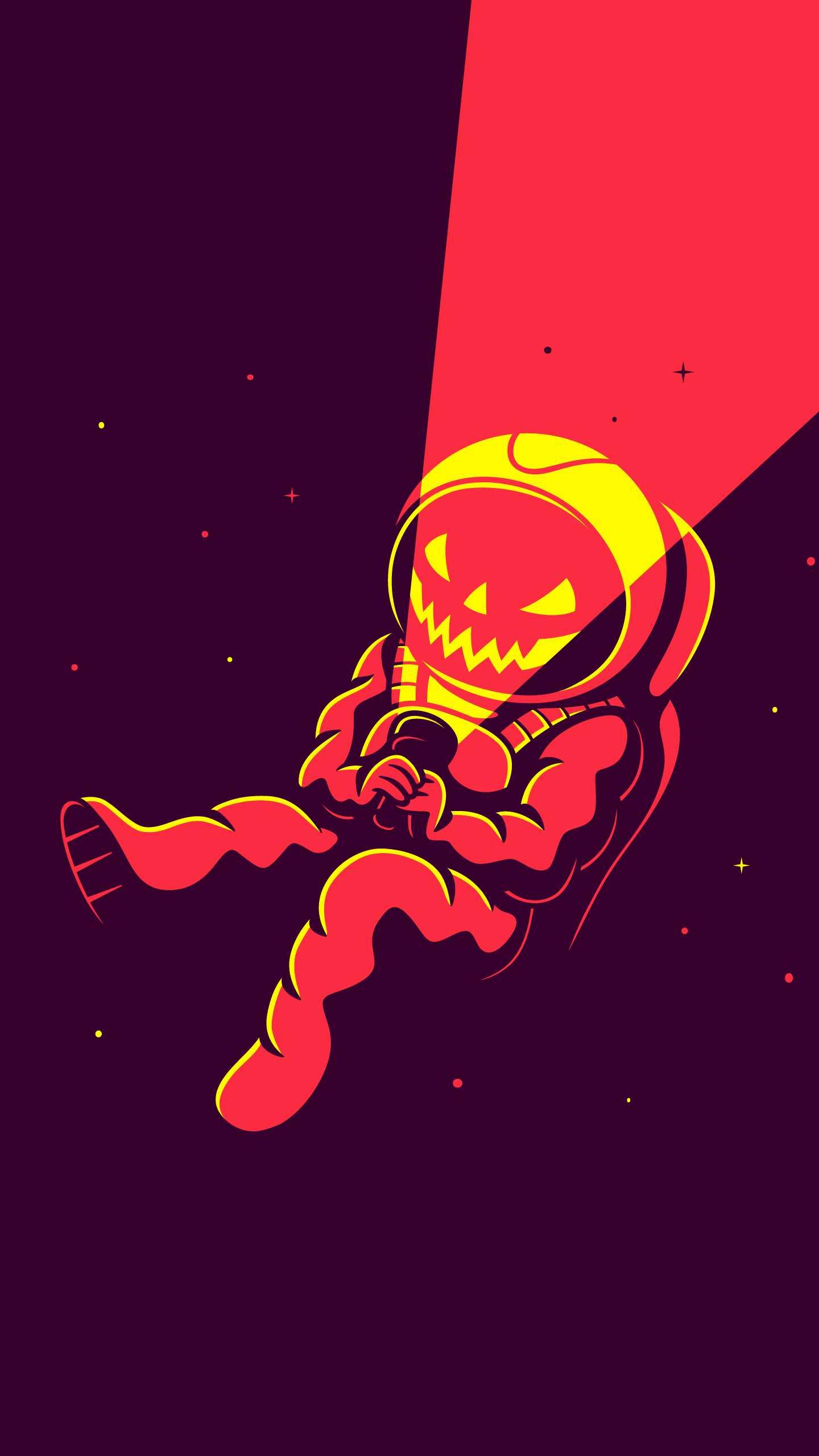 Halloween Astronaut iPhone Wallpaper