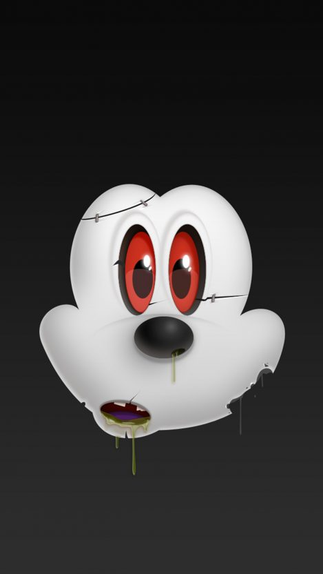 Halloween Mickey Mouse iPhone Wallpaper