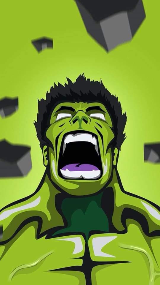 Hulk Roar iPhone Wallpaper