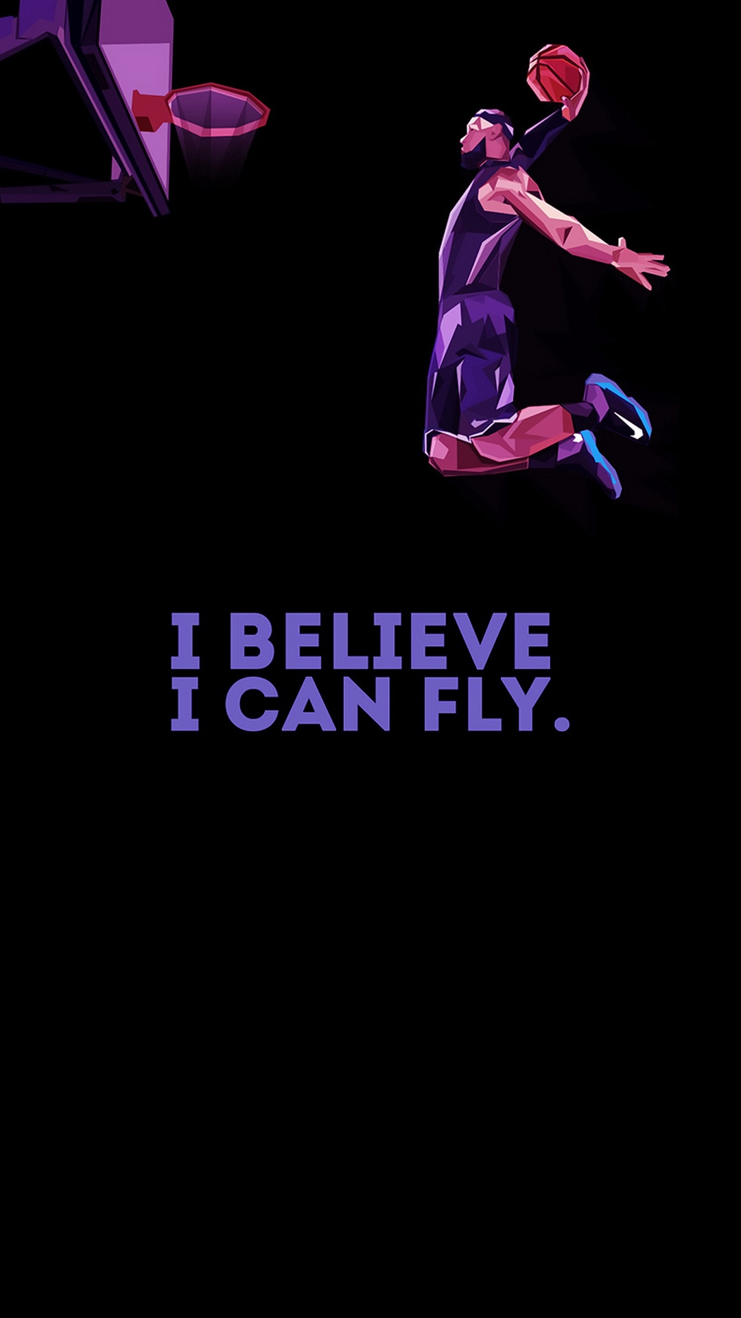 I believe I can Fly iPhone Wallpaper