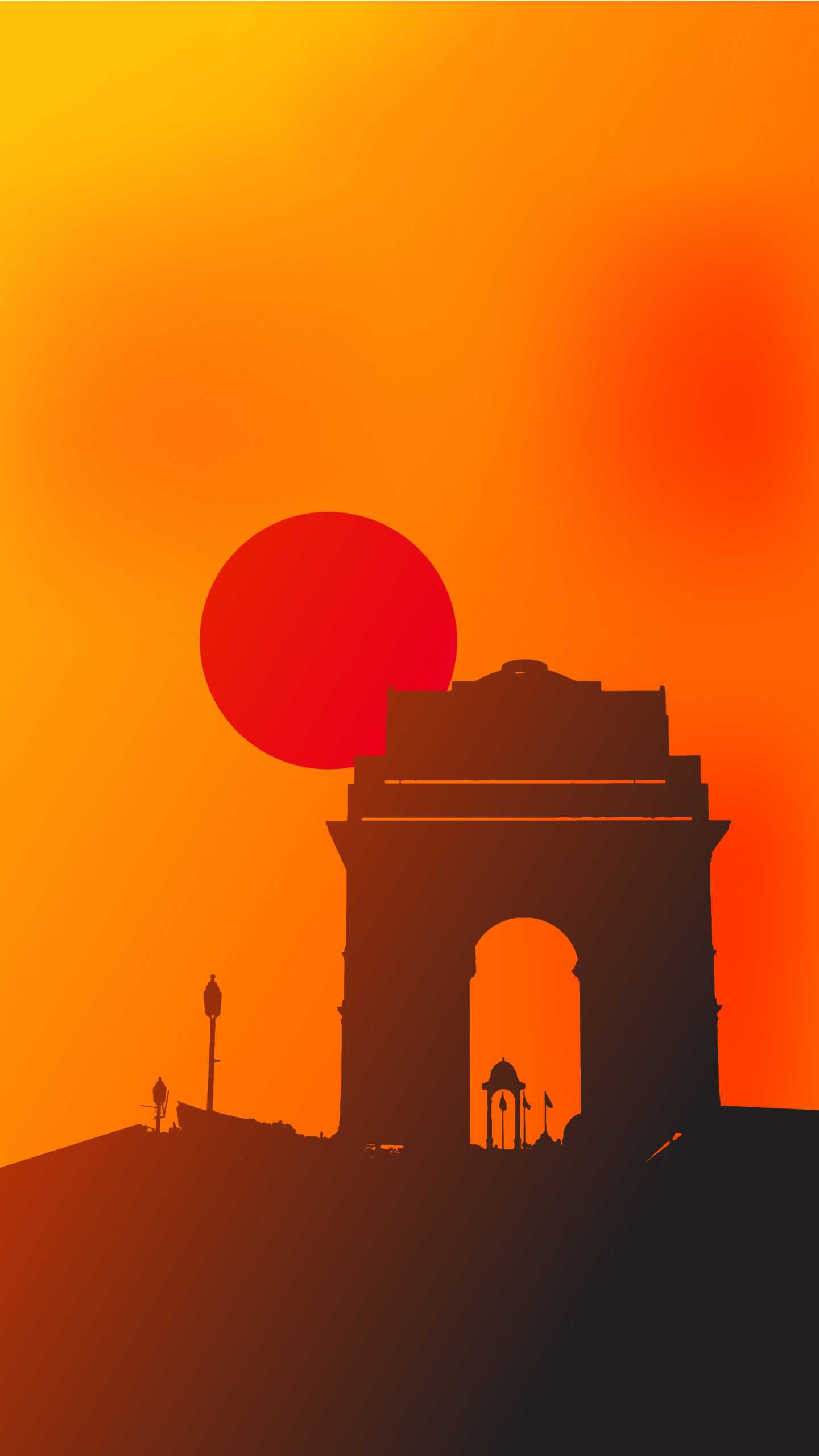 India Gate Sunset Iphone Wallpaper Iphone Wallpapers