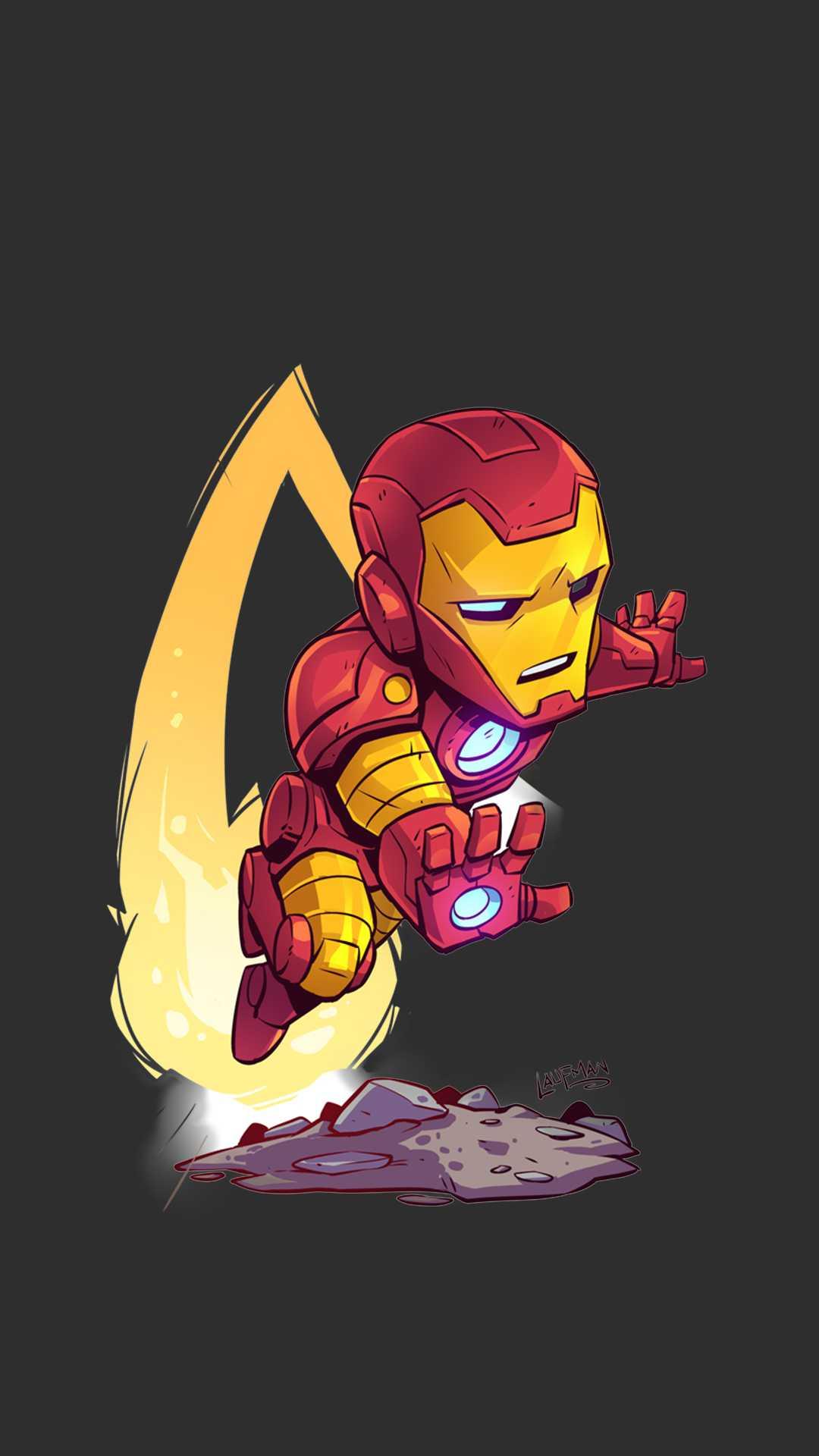 Iron Man Animated Art iPhone Wallpaper