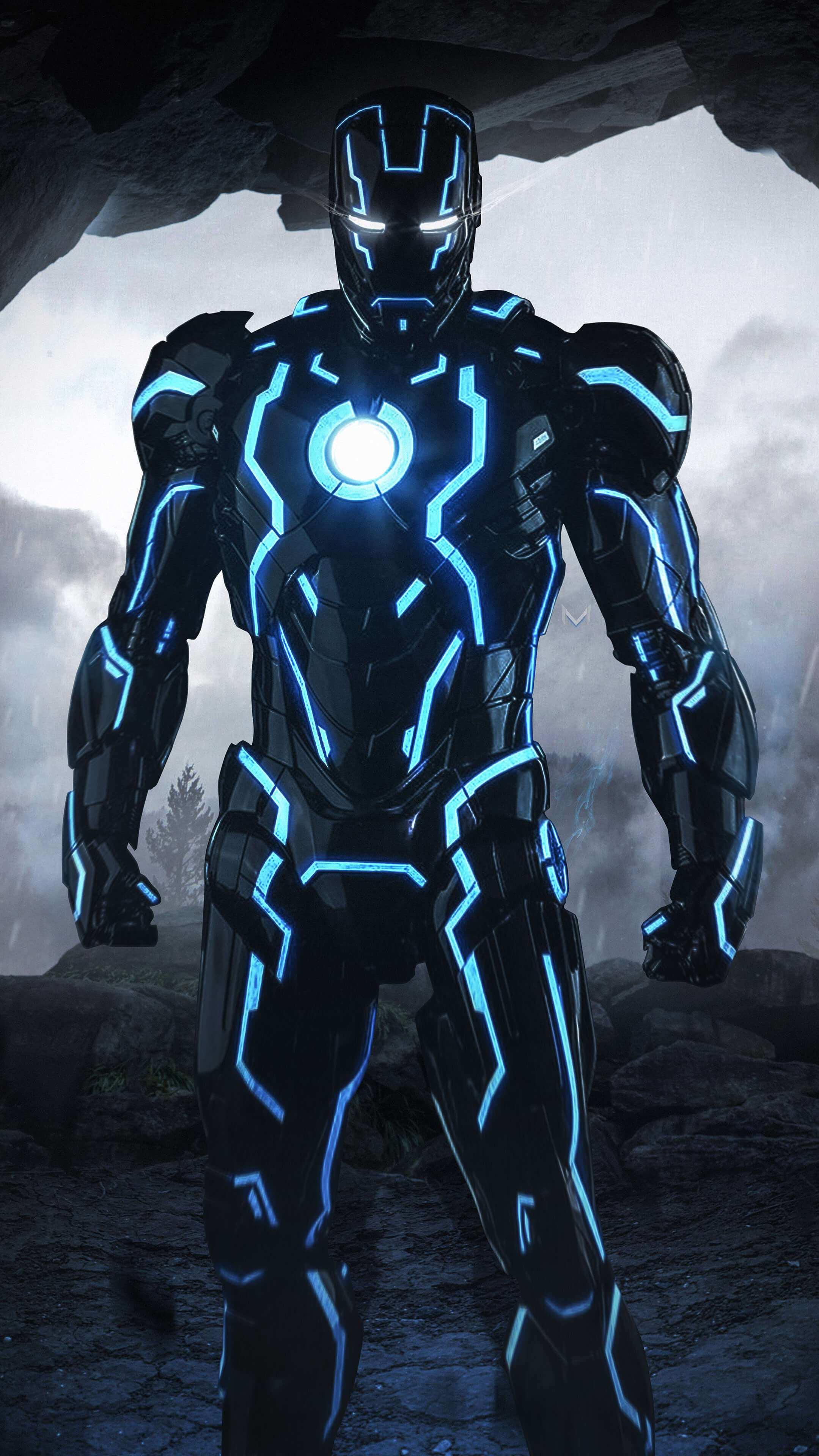 Iron man Neon Suit iPhone Wallpaper