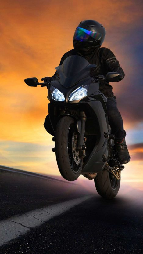 Kawasaki Superbike Black iPhone Wallpaper