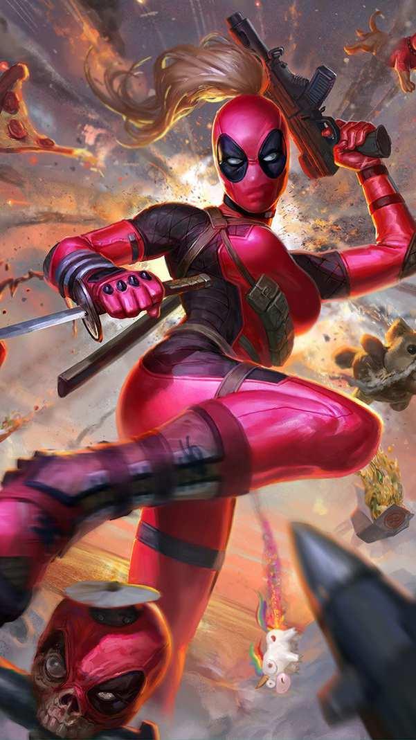 Lady Deadpool iPhone Wallpaper