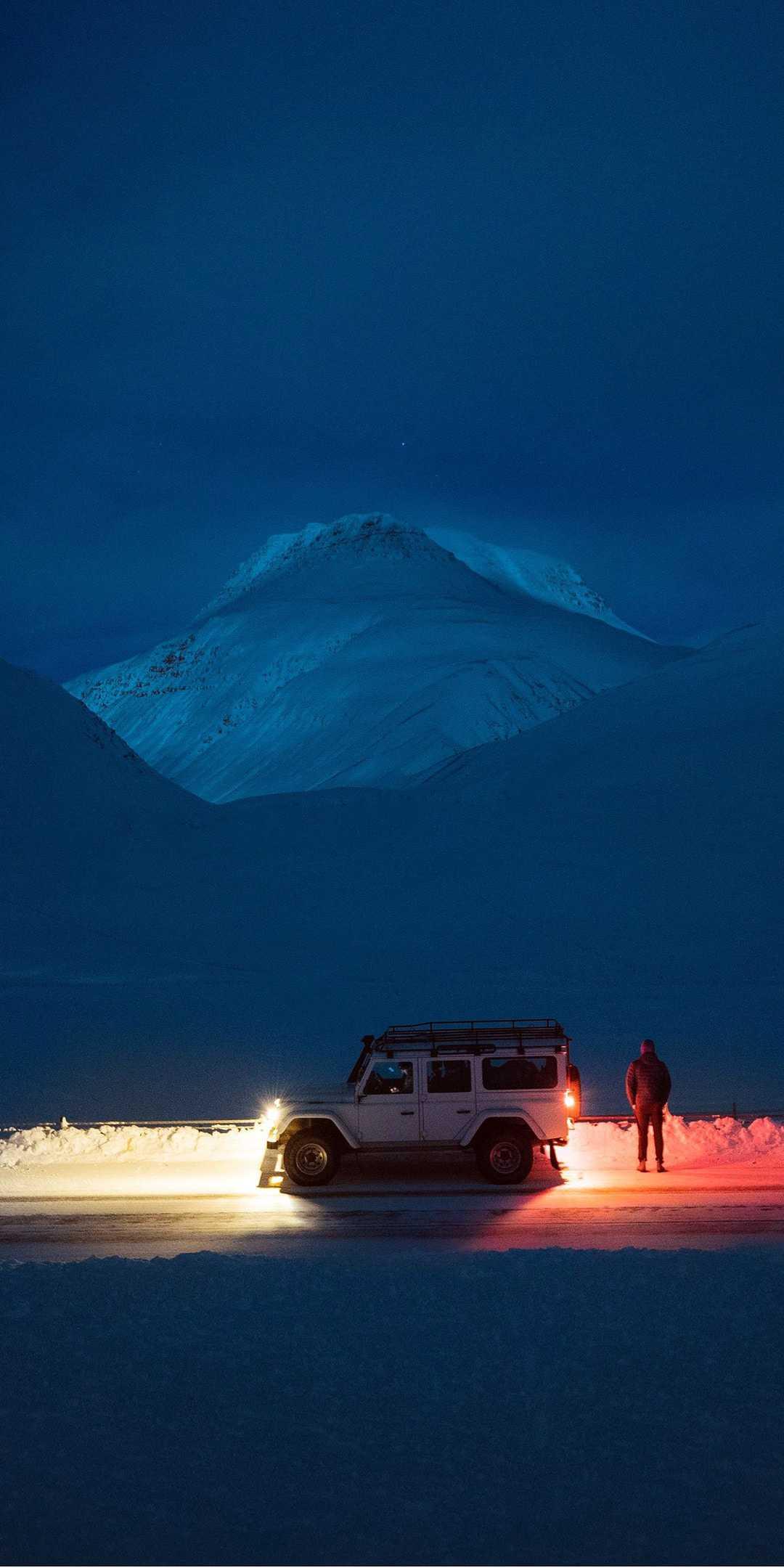 Land Rover Defender Icelandic Adventure iPhone Wallpaper