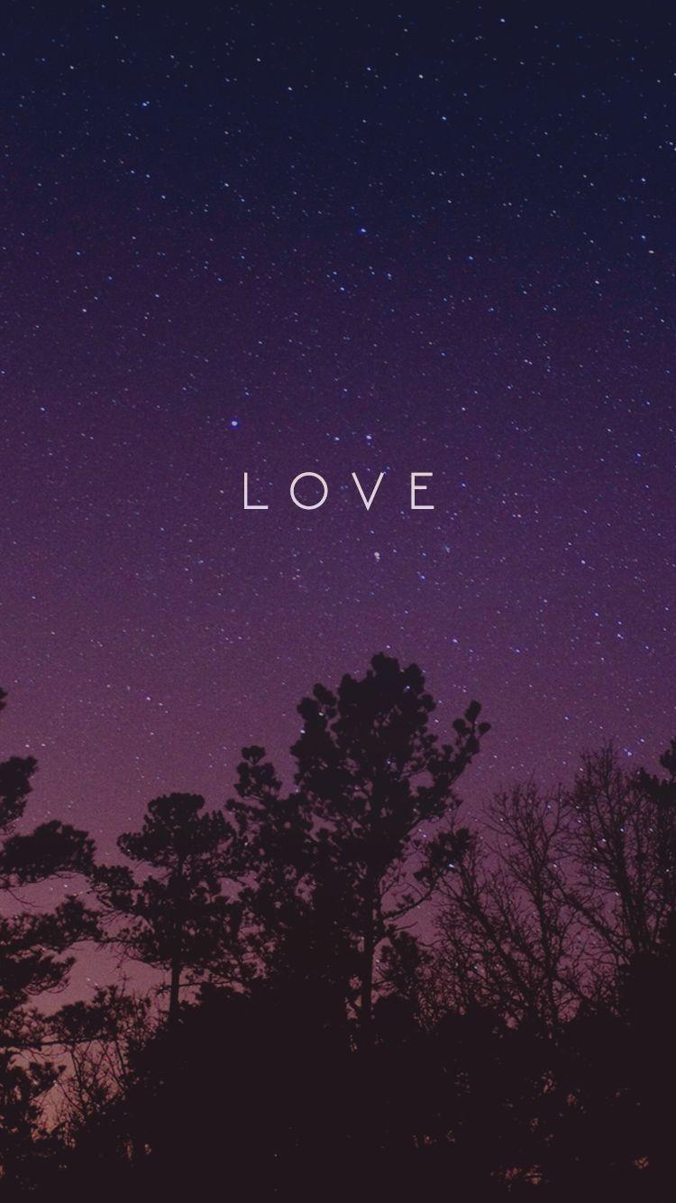 Love Night iPhone Wallpaper