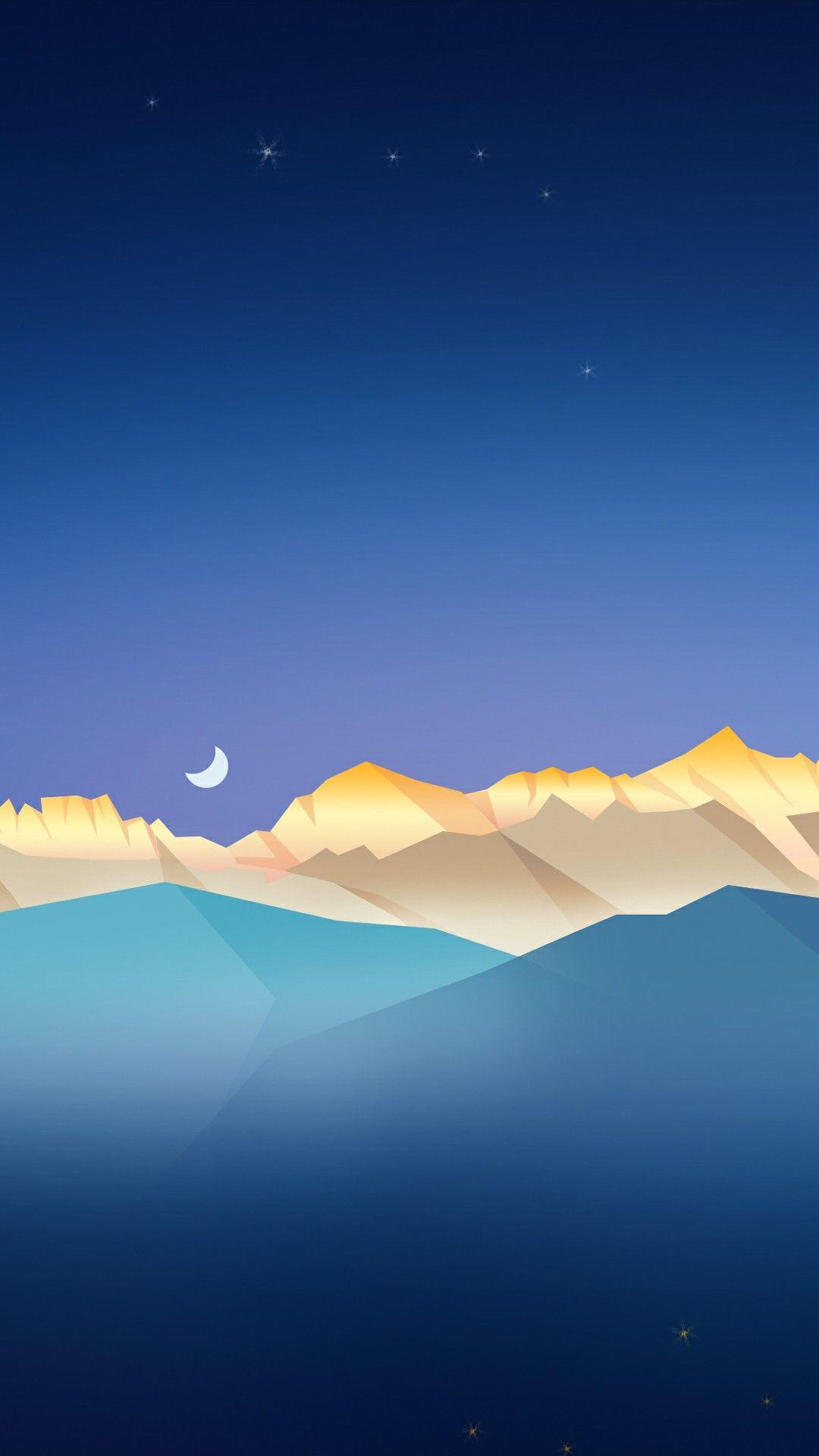 Minimal Nature Glaciers iPhone Wallpaper