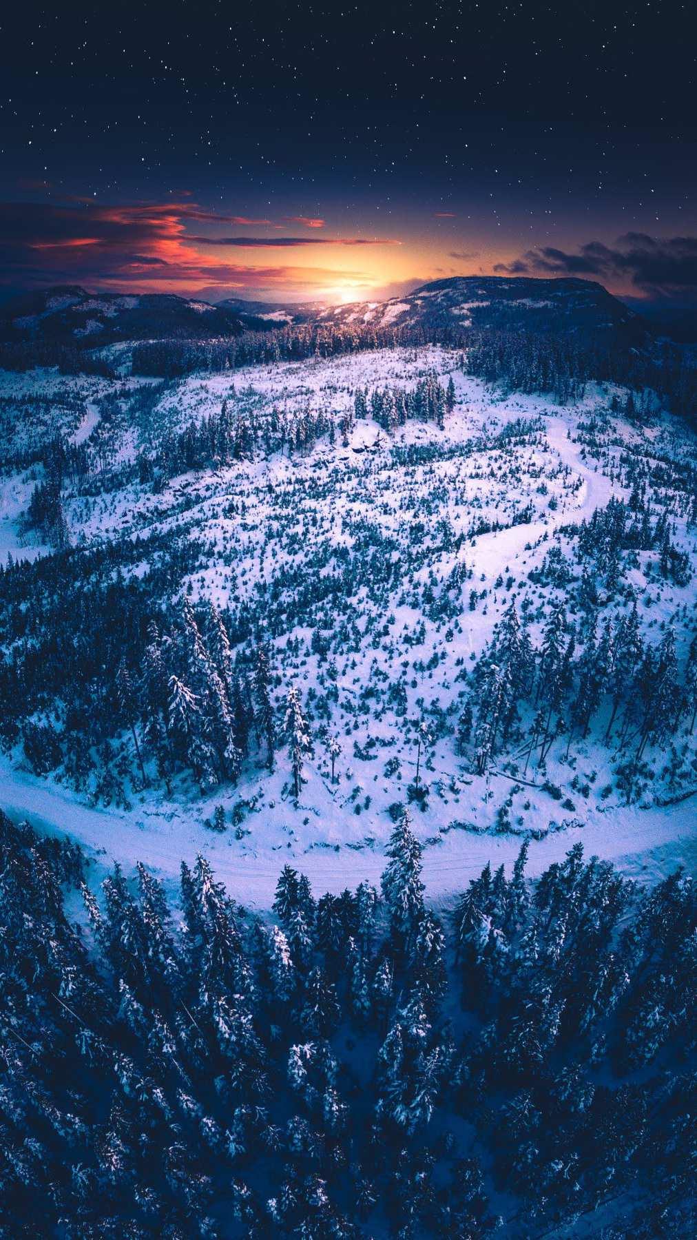 Nature Winter Season iPhone Wallpaper