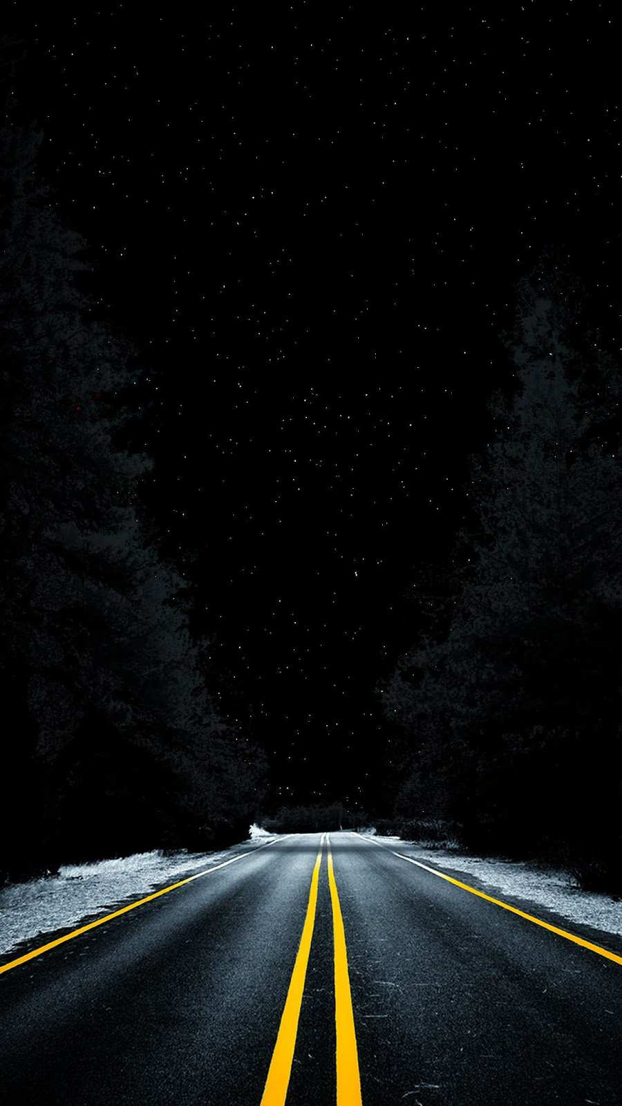 Night Road Space View From Earth Iphone Wallpaper Iphone
