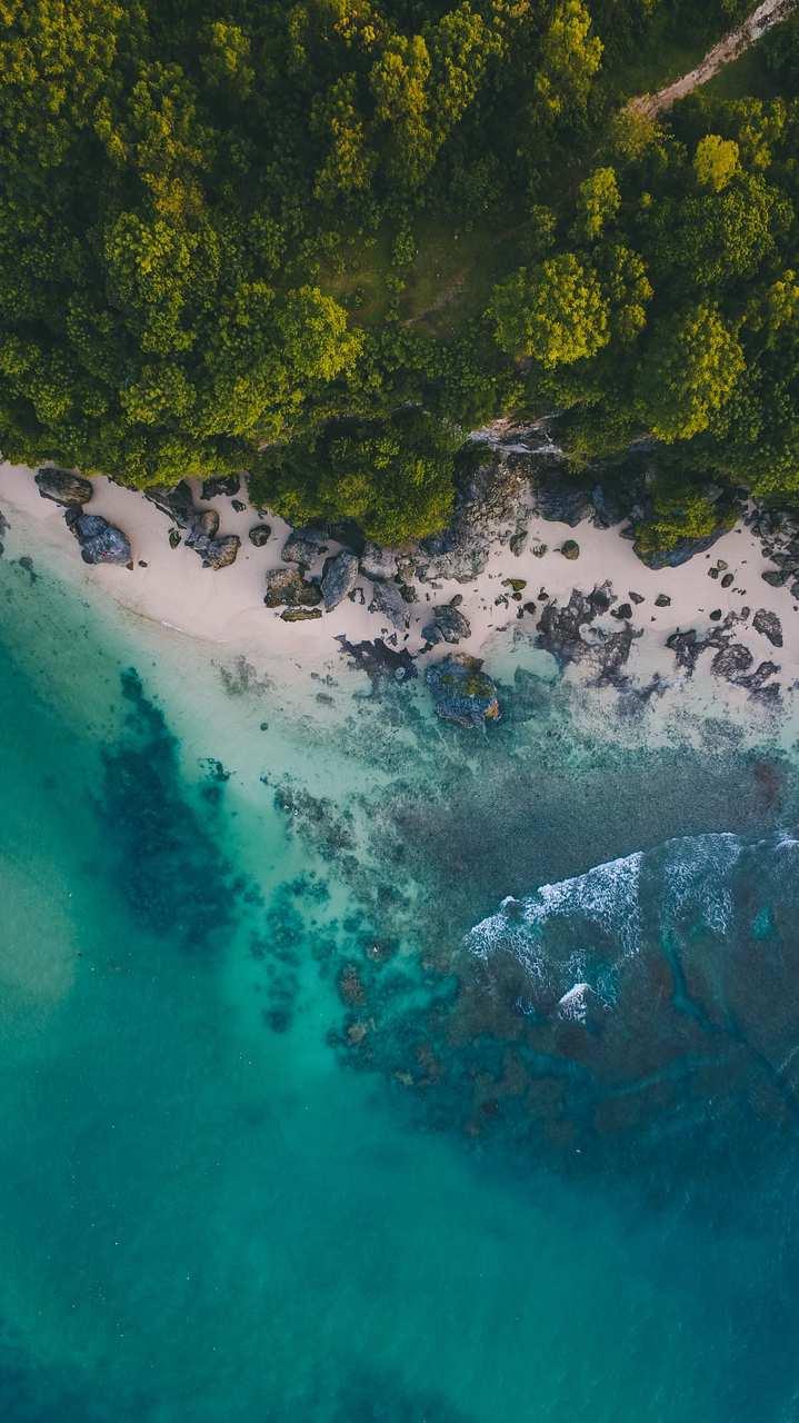 Ocean Beach Aerial View iPhone Wallpaper