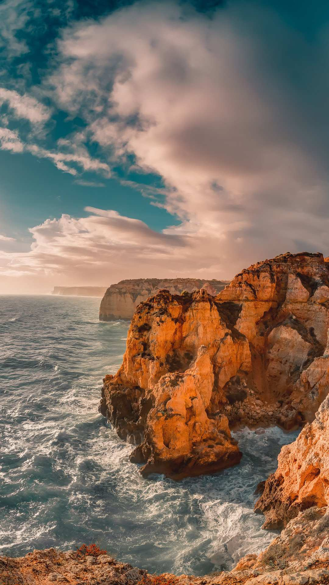 Ocean Rocks Nature iPhone Wallpaper