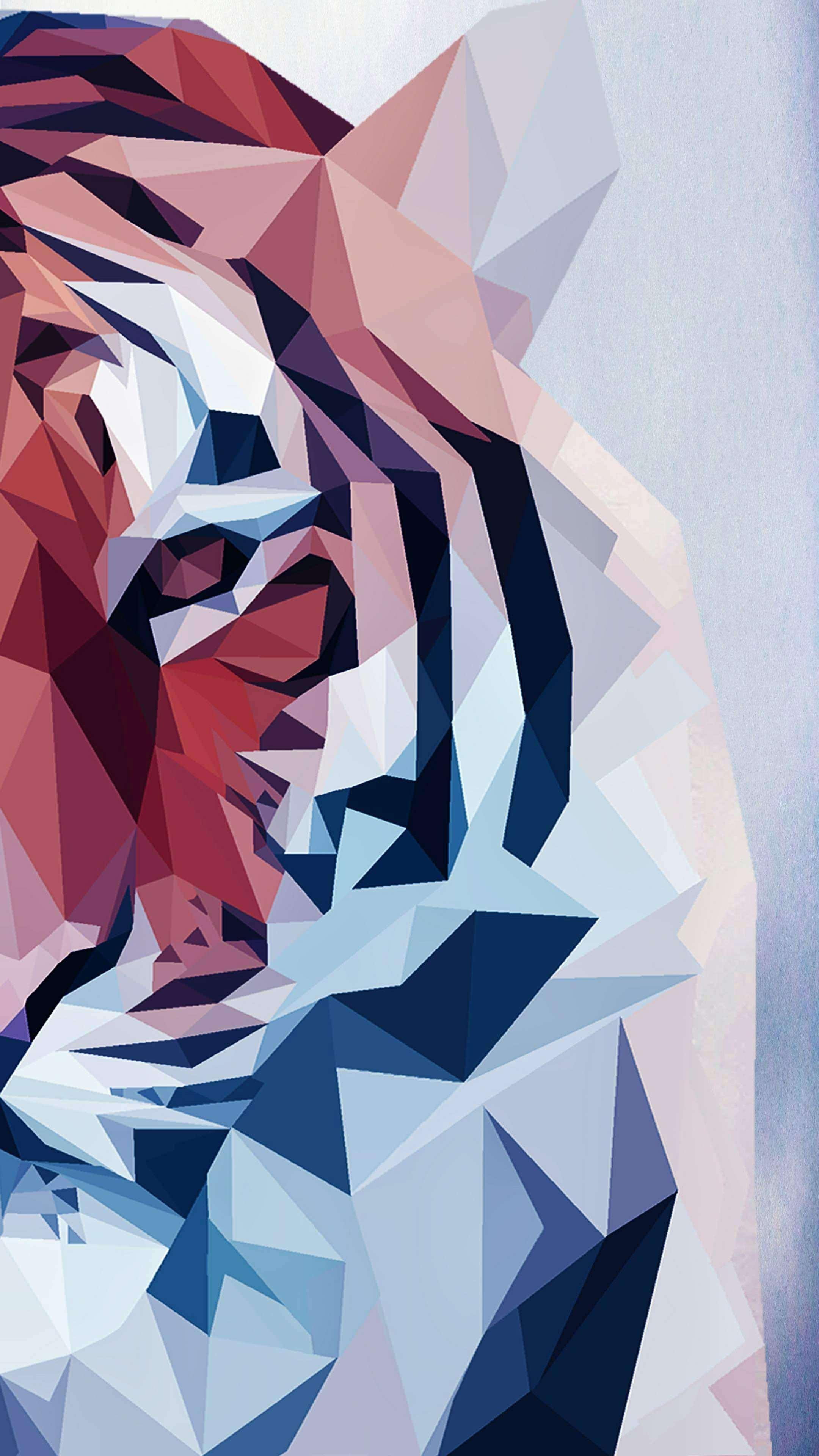 Polygon Tiger iPhone Wallpaper