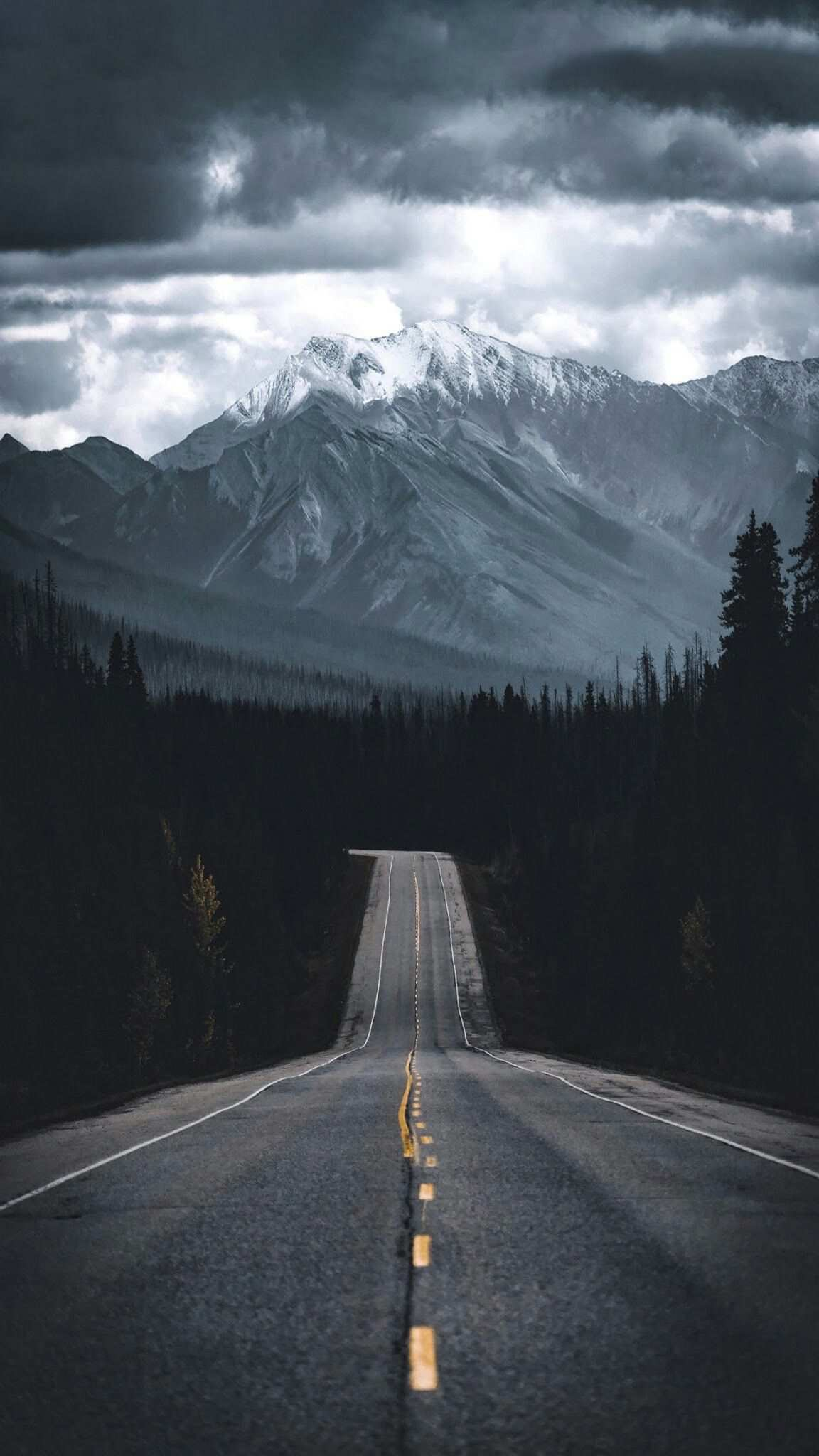 Road to Mountain Nature iPhone Wallpaper