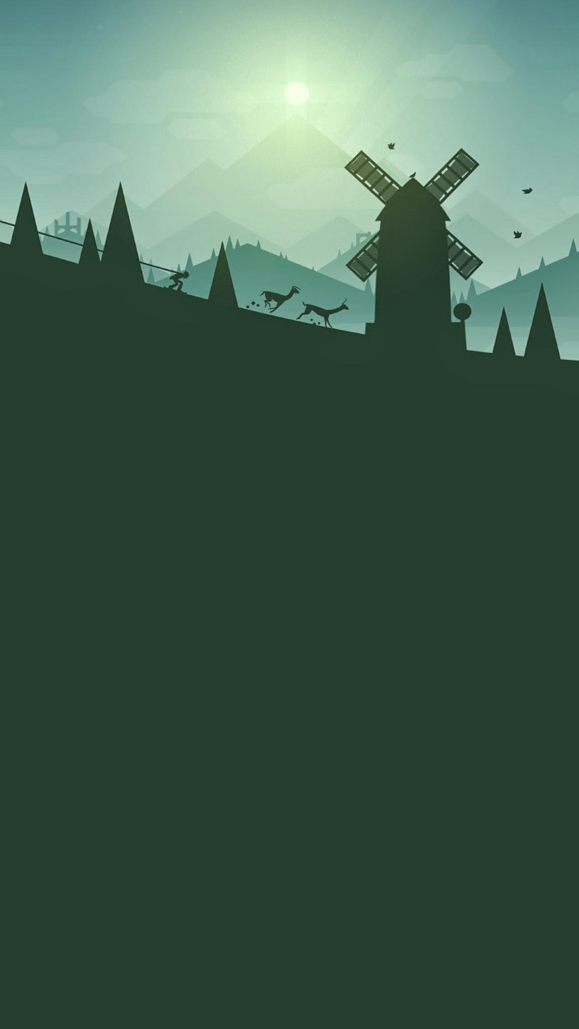 Ski Safari iPhone Wallpaper