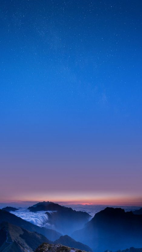 Sky Nature Horizon Mountain iPhone Wallpaper