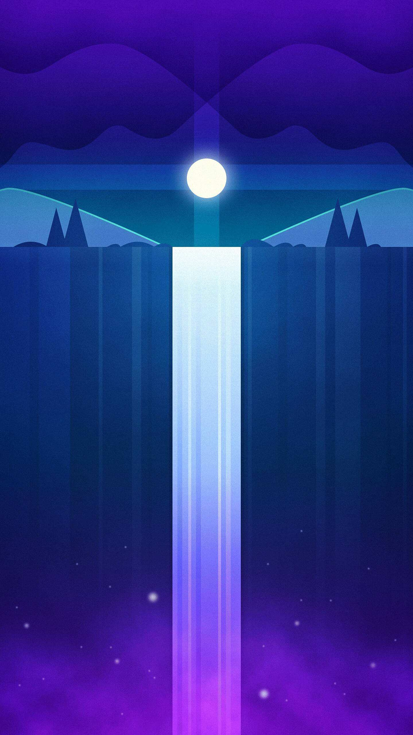 Sky Waterfall iPhone Wallpaper