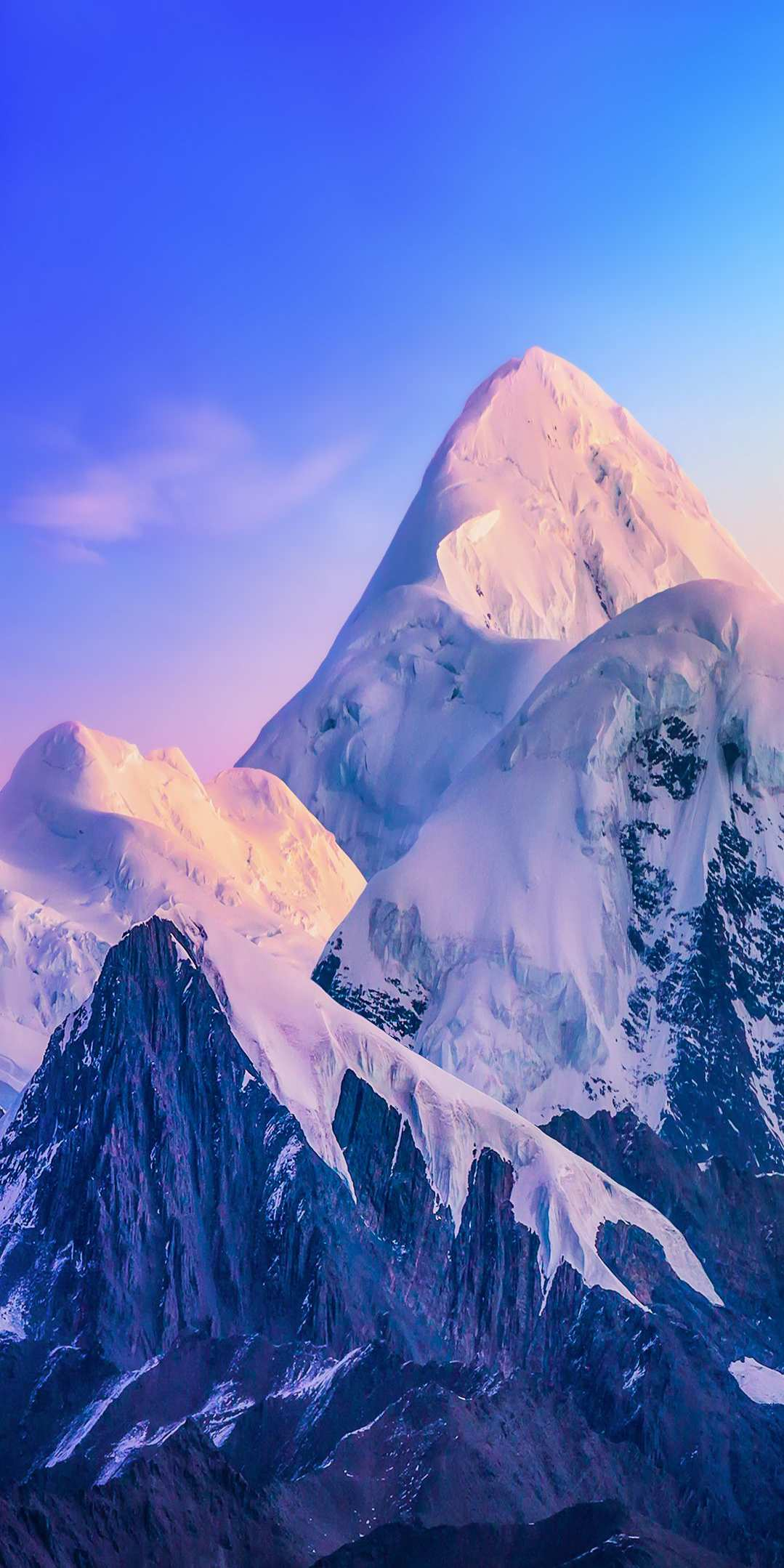 Snow Winter Nature Mountains iPhone Wallpaper
