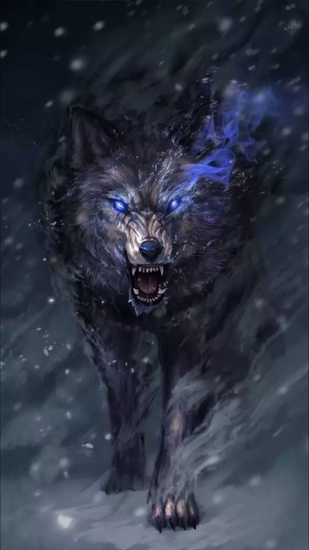 Snow Wolf iPhone Wallpaper