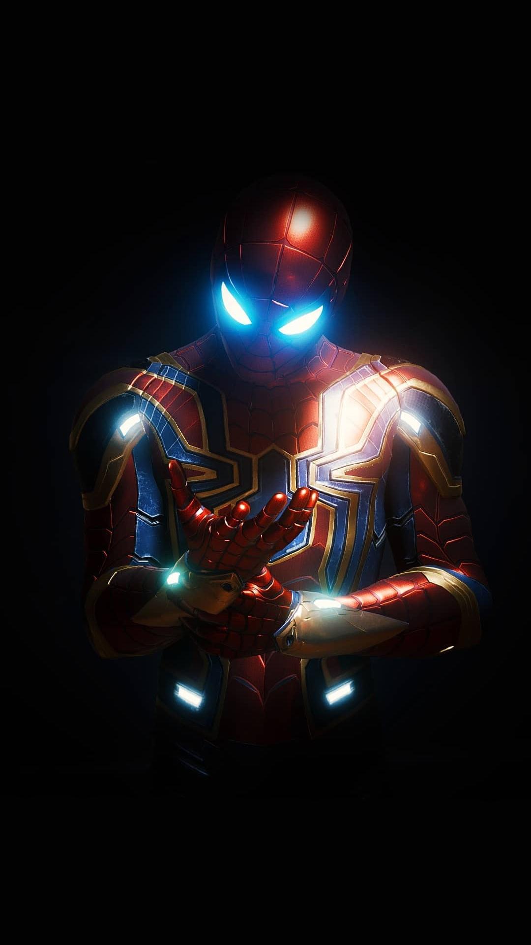 Spider Armor Mark 4 iPhone Wallpaper