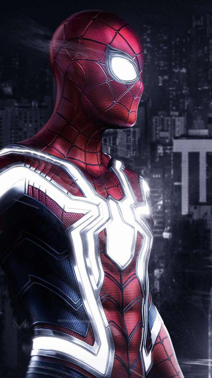 Spider Man Glowing Suit iPhone Wallpaper