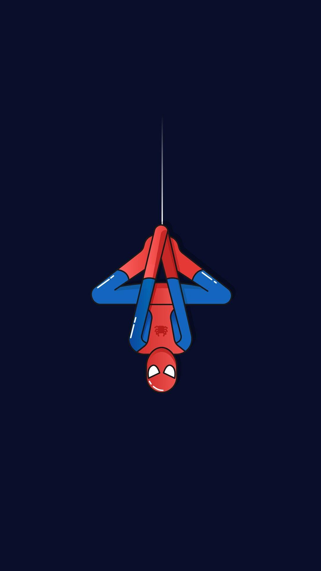 Spider Man Minimal iPhone Wallpaper