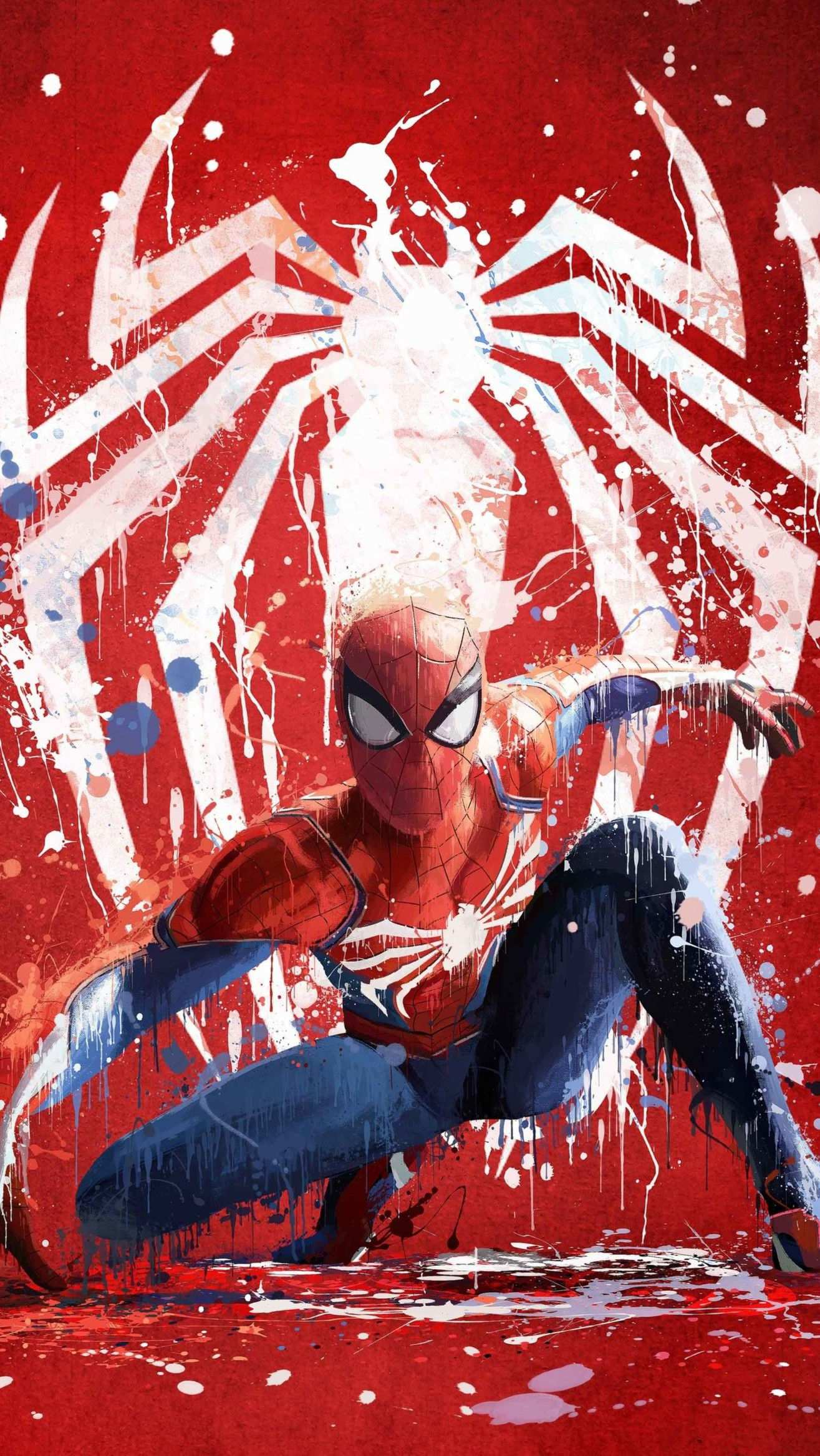 Spider Man Movie Poster Art iPhone Wallpaper