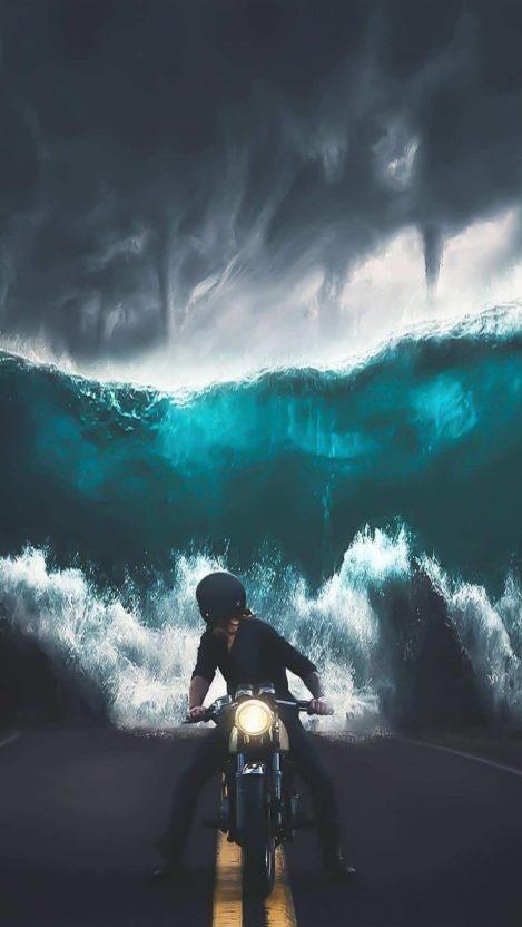 Storme vs Biker iPhone Wallpaper