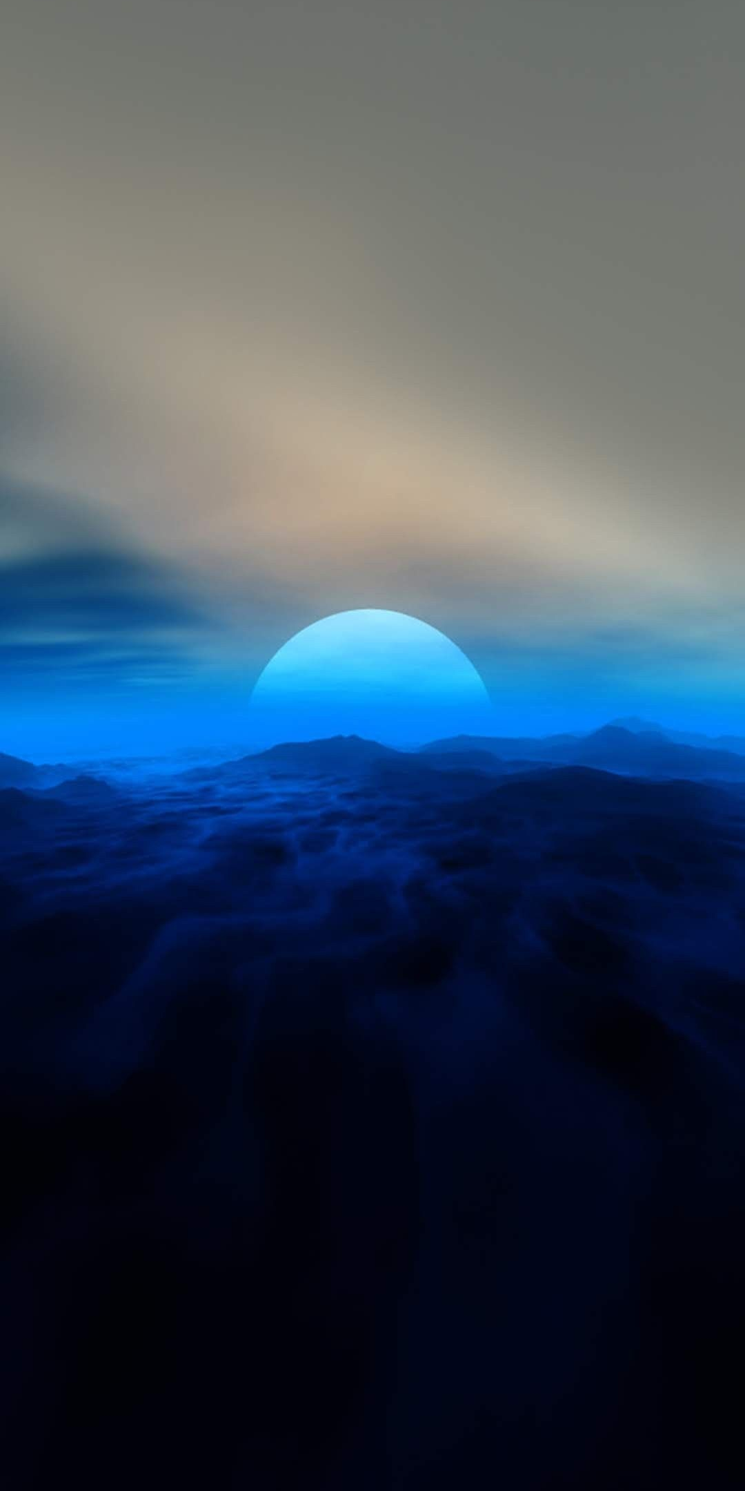 Sunrise From Titan iPhone Wallpaper