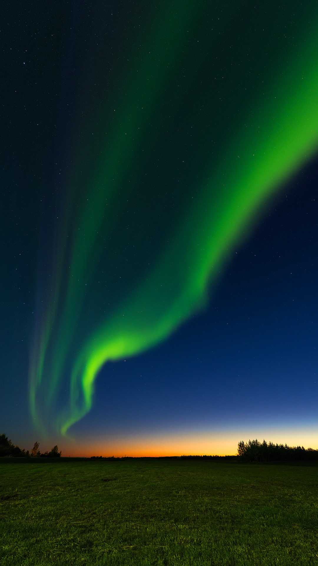 Sunset Aurora Sky Nature iPhone Wallpaper