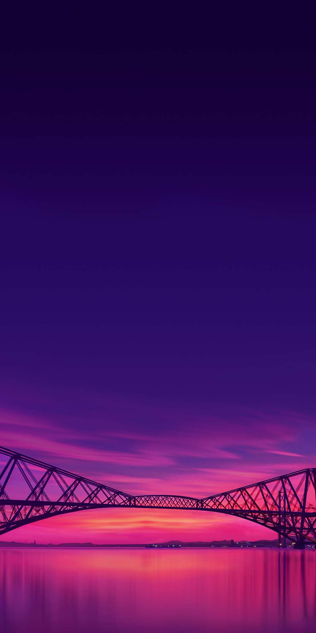 Sunset River Bridge iPhone Wallpaper